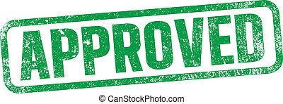 postzegel, groene, goedgekeurd, inkt