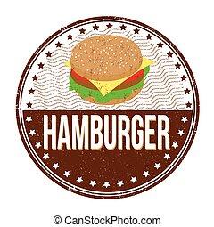 postzegel, hamburger