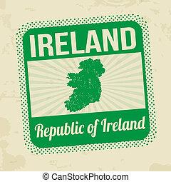 postzegel, ierland