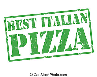 postzegel, italiaanse , best, pizza