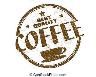 postzegel, koffie