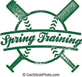 postzegel, lente, opleiding, honkbal