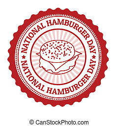 postzegel, nationale, hamburger, dag