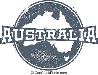 postzegel, ouderwetse , australië