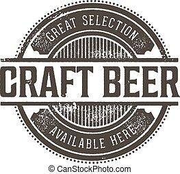 postzegel, ouderwetse , bier, ambacht