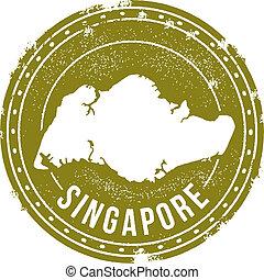 postzegel, ouderwetse , singapore