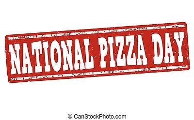 postzegel, pizza, of, dag, meldingsbord