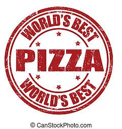 postzegel, pizza