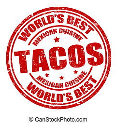 postzegel, tacos