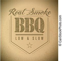 postzegel, tekst, uniek, barbecue, classieke