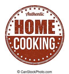 postzegel, thuis koken