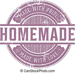 postzegel, thuis maakte, ouderwetse