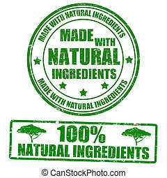 postzegels, gemaakt, natuurlijke , ingredienten