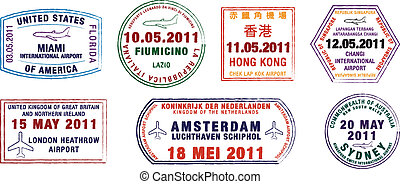 postzegels, paspoort