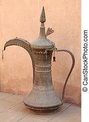 pot, traditionele , museum, koffie, arabische