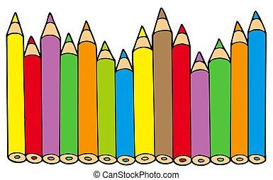potloden, kleuren, gevarieerd