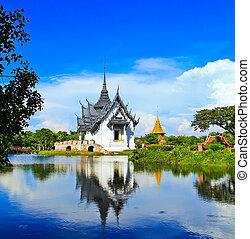 prasat, paleis, sanphet, thailand, bangkok