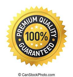 premie, kwaliteit, etiket