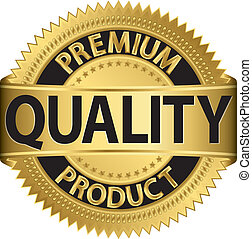 premie, product, kwaliteit, labe, gouden
