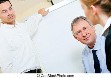presentatie, vergadering, zakelijk