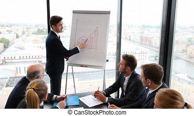 presentatie, zakenlui
