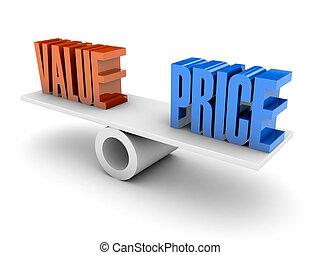 prijs, balance., waarde
