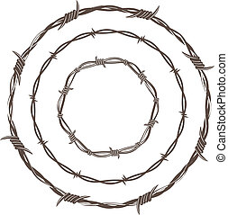 prikkeldraad, ringen