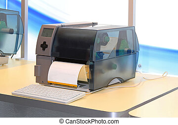 printer, etiket