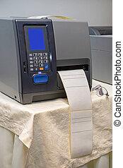 printer, streepjescode
