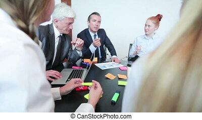 proces, commerciële vergadering, werkende