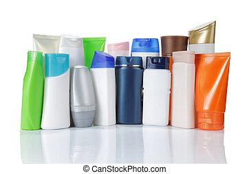 product, groep, op, vrijstaand, packaging., achtergrond, witte