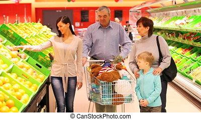 producten, gezin, aankoop