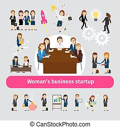 professioneel, networking, zakenmens