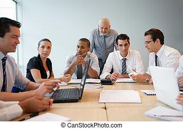 professioneel, opleiding, handel team