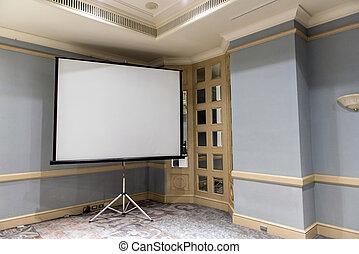 projector scherm, glijbaan, witte , vergaderruimte