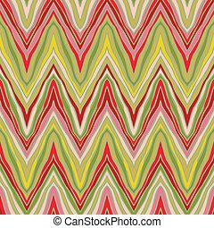 psychedelic, model, lineair, zigzag