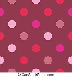 punten, achtergrond, vector, rood, roze