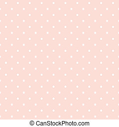 punten, achtergrond, vector, roze, polka