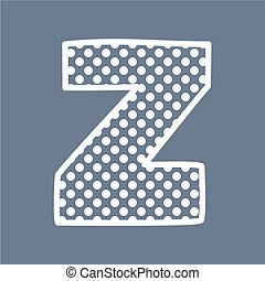 punten, alfabet, polka, vector, brief, z