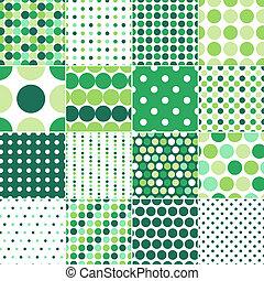 punten, cirkel, polka, seamless
