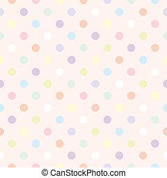 punten, kleuren achtergrond, vector, polka
