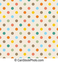 punten, kleurrijke, achtergrond, vector