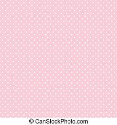 punten, pastel, seamless, roze, polka
