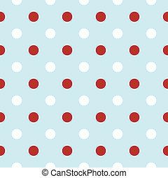 punten, retro, achtergrond, kerstmis, rood, polka, witte