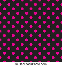 punten, zwarte achtergrond, vector, roze