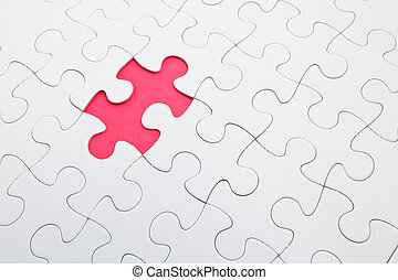 puzzelstuk, missende