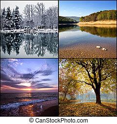 quatres saisons, collage