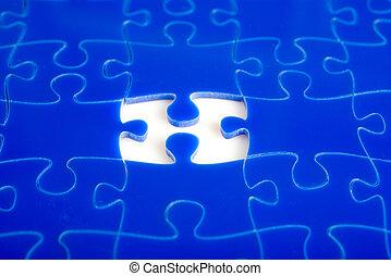 raadsel, jigsaw, missende