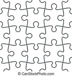 raadsel, jigsaw, seamless