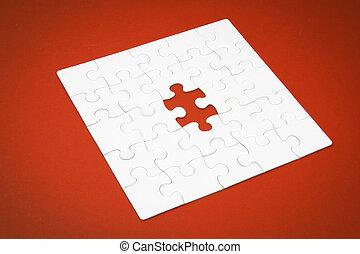 raadsel, jigsaw, vermiste fragment